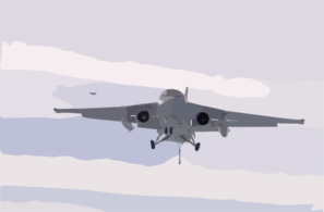 S-3b Prepares To Land Clip Art