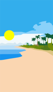 Beach Portrait Clip Art
