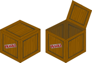 Closed And Open Perspective Crate Clip Art