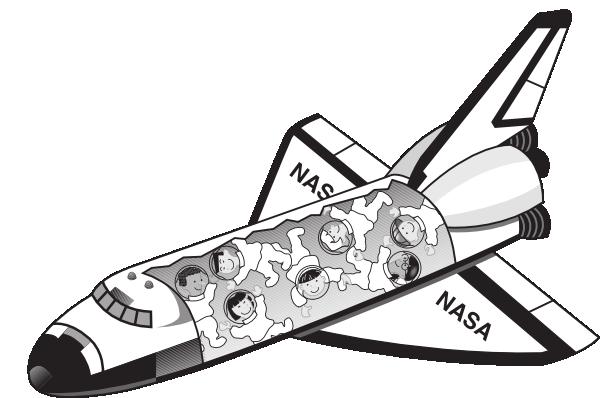 Space Shuttle Open Clip Art at Clker.com - vector clip art ...