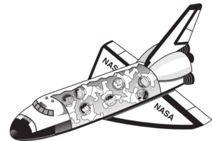 space shuttle open clip art at clker com vector clip art online rh clker com space shuttle clipart black and white space shuttle launch clipart