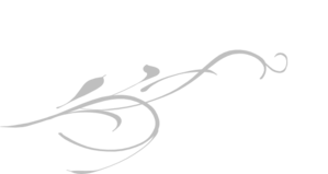 Love Birds On A Branch - White And Silver Clip Art