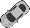 Gray Car - Top View - 220 Clip Art