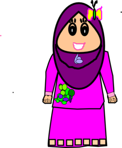 Muslimah Cute Craft Clip Art