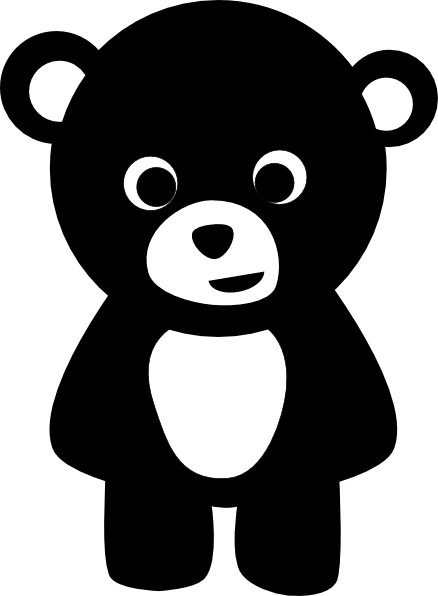 black bear clip art at clker com vector clip art online royalty rh clker com teddy bear clipart black and white black bear clip art black and white