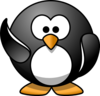 Waving Penguin Clip Art