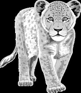 leopard clip art at clker com vector clip art online royalty free rh clker com snow leopard face clipart Snow Leopard Cartoon