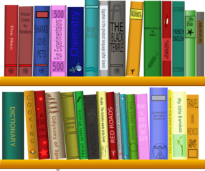 Books On Shelf Clip Art
