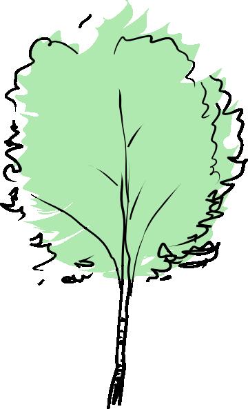 Green Tree Abstract Clip Art at Clker.com - vector clip art online, royalty free ...