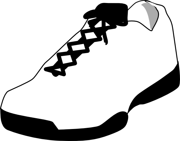 Shoe Outline White clip art
