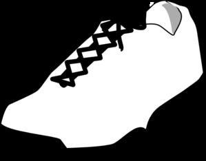 c1ac3f4bbd4 Shoe Outline White Clip Art at Clker.com - vector clip art online ...
