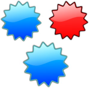 Red Blue Purple Stars Clip Art
