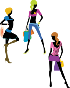 Shopping Girls Clip Art