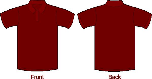 Polo Shirt Maroon Clip Art at Clker.com - vector clip art online ...