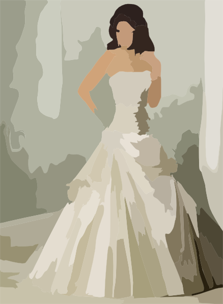 Affordable Plus Size Wedding Dress with French Tulle ...  Clipart Bride And Bridesmaid Dresses