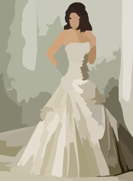 corset wedding dress vector clip art at clkercom vector