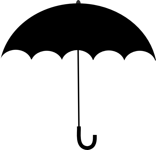 Umbrella Clipart Black And White Black White Umb...