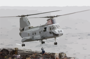 A Ch-46  Sea Knight  Helicopter Clip Art