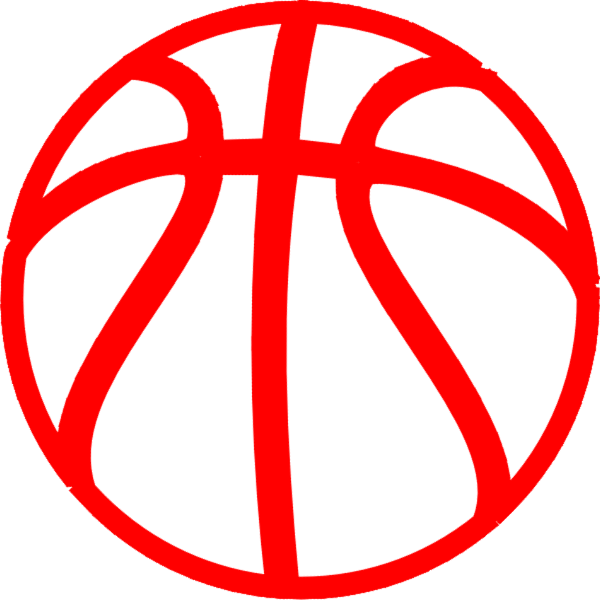 Red Basketball Clip Art at Clker.com - vector clip art online, royalty ...