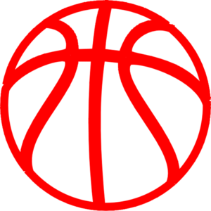 Red Basketball Clip Art