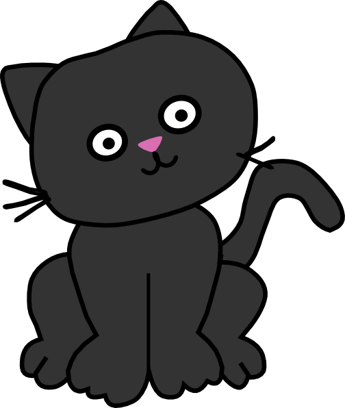 Black Cat With Tilted Head Clip Art at Clker.com - vector ...