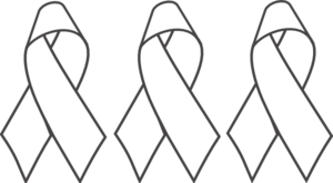 Breast Cancer Ribbon Bw Clip Art at Clkercom vector clip art