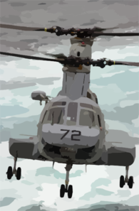 A Ch-46 Sea Knight Transfers Supplies From Fast Combat Support Ship Uss Bridge (aoe 10) To Uss Nimitz (cvn 68) During A Connected Replenishment (conrep) Clip Art