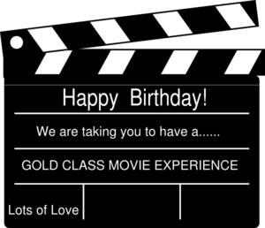 Generic Birthday Clapperboard Clip Art
