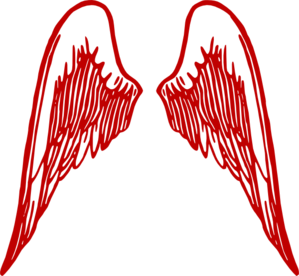 Angel Wings Burg Clip Art