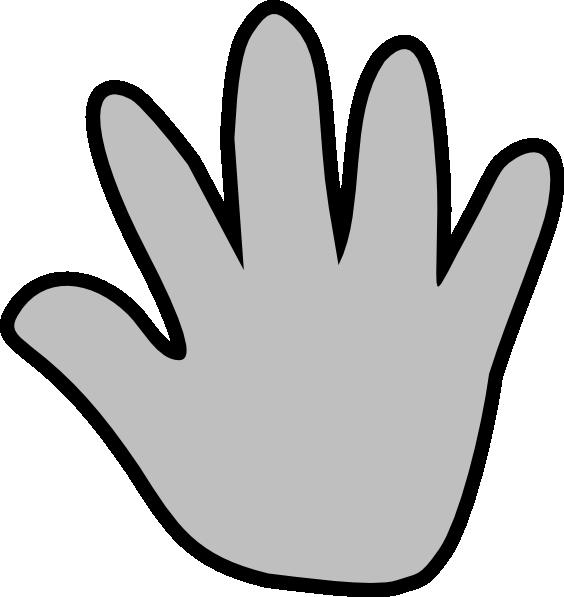 Gray Handprint Clip Art at Clker.com - vector clip art online ...