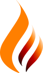 Orange Red Orange Logo Flame Clip Art