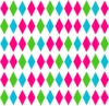 Diamond Pattern Multi Clip Art