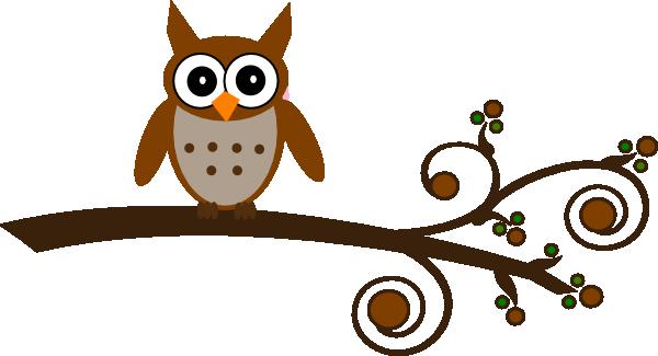 Brown Owl On Branch Clip Art at Clker.com - vector clip ...