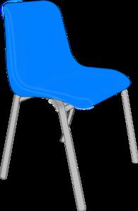 Classroom Blue Chair Clip Art