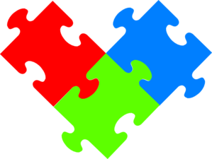 3 Puzzple Pieces Clip Art at Clker.com - vector clip art online ...