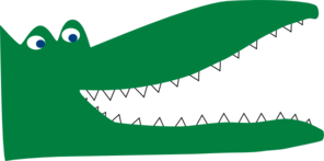 Green Crocodile Clip Art