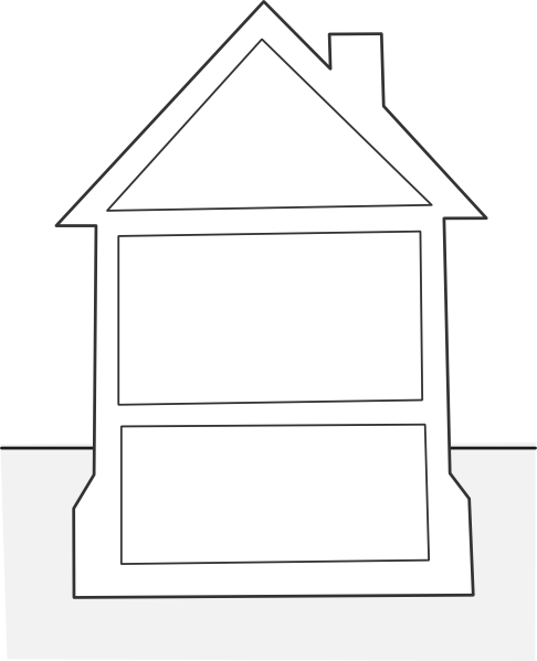 House Outline Clip Art at Clker