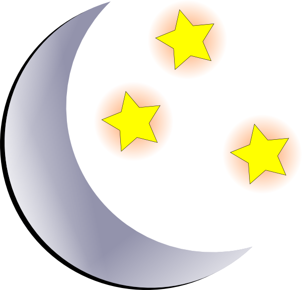 Clipart Moon And Stars 1 on Shapes That Are Large