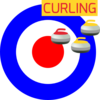 Curling Winter Sport Icon Clip Art