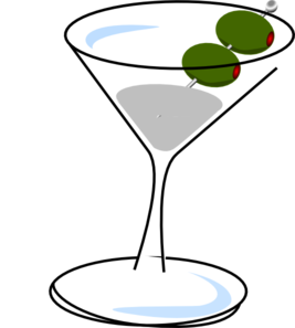 Martini With Olives Clip Art
