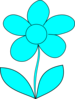 Murray Blue Flower Clip Art