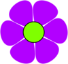 Flower Power Purple Clip Art
