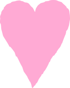 Pink Heart Sketch Clip Art