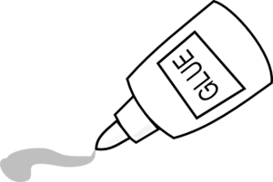 Glue Outline Clip Art