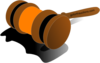 Auction Gavel Color Orange Clip Art