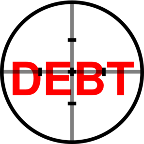 Debt Destruction Clip Art