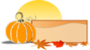 Pumpkin Sign Banner Clip Art