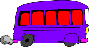 Purple Bus Clip Art