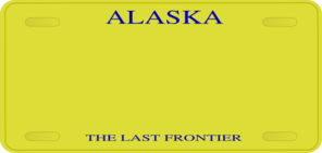 Alaska License Plate Clip Art