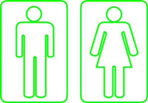 Toilet Outline Green Clip Art